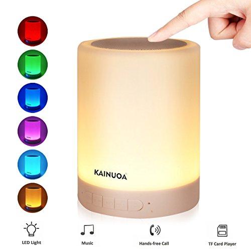 Kainuoa LED Tischlampe mit Bluetooth Lautsprecher, Touch Bunte Kinder Nachttischlampe, Baby Schalflicht, Dekolicht, Partyleuchte in Farbwechsel für Kinderzimmer Schlafzimmer