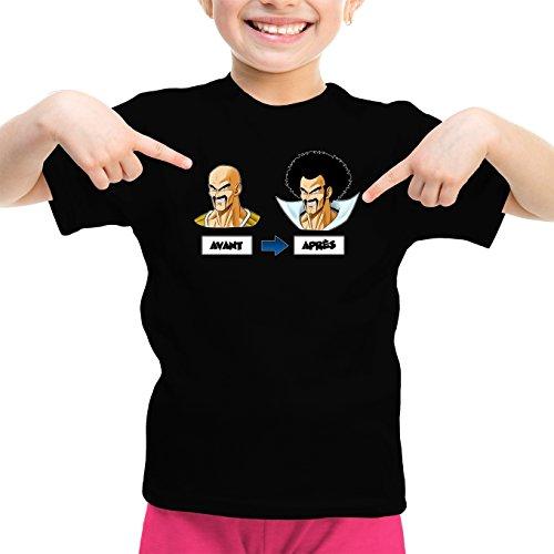 T-Shirts Dragon Ball Z - DBZ parodique Nappa Hercule Satan : Avant - Après (Parodie Dragon Ball Z - DBZ)