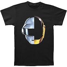 Daft Punk Casco de Split Hombre Camiseta Negro