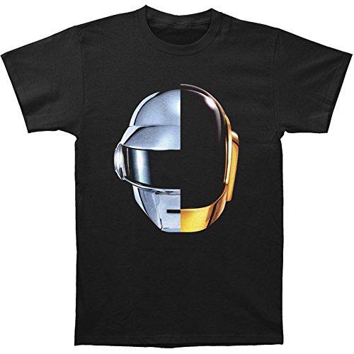 Daft Punk Casco de Split para Hombre T-Shirt Negro - Negro -