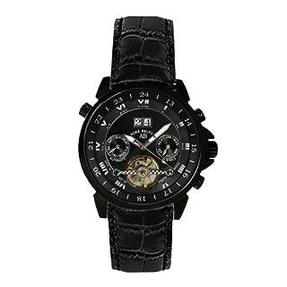 André Belfort Herren-Armbanduhr Étoile Polaire Ip Schwarz Leder 410137
