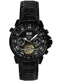 André Belfort 410137 - Reloj analógico de caballero automático con correa de piel negra - sumergible a 50 metros