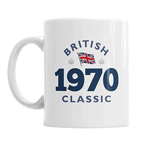 British 1970 Classic Mug Gift Keepsake for 50th Birthday