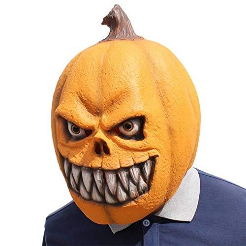 Streich Krueger Freddy Kostüm - LUOJUNHUAN Kürbis Maske Latex Kürbis Kopfschmuck Lustige Latex Maskerade Party Cosplay Maske Dress Up Kostüm