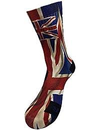 Drapeau de l Angleterre Style Chaussettes avec votre propre motif à la main  Impression 3D d31359276a9