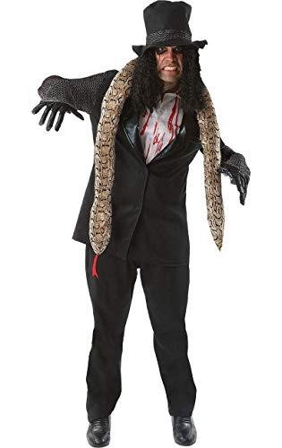 Generique - Rocker-Halloween Kostüm schwarz-Weiss M / L (Rock Stars Der 80er Jahre Kostüm)