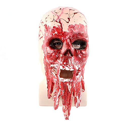 Tropfmaske Horror Blutung Dämon Lustige Horror Latex Kopfbedeckung Requisiten Unisex 1 Stücke Stücke Erwachsene Geschenk,Red,Onesize ()