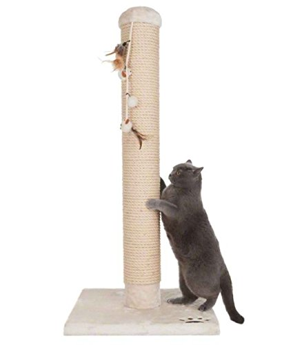 Jumbo Sisal-Coated Scratching Post XXL - Extremely Stable with Thick Sisal Coating and Extra Thick, Heavy Base Plate - Ideal for Larger and Heavier Cat Breeds such as Ragdolls, British Shorthairs or Maine Coons 6