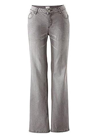 Sheego Damen Stretch-Jeans Hosen Bootcut-Form Grey-Denim 5-Pocket-Stil verschiedene Größen / Längen Posten f5366 Farbe: Grey-Denim, Gr. 245