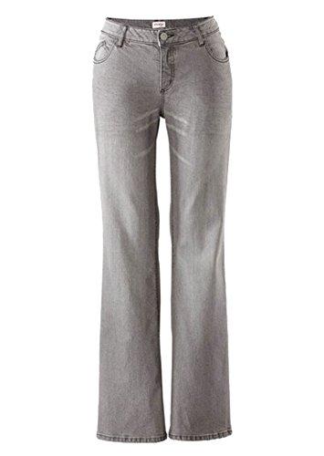Sheego Damen Stretch-Jeans Hosen Bootcut-Form Grey-Denim 5-Pocket-Stil Verschiedene Größen/Längen Posten f5366 Farbe: Grey-Denim, Gr. 1005 (50L)