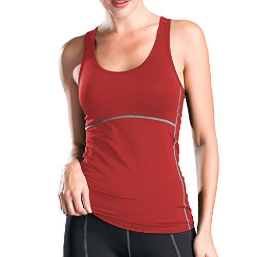 Dtuta Yoga Fitness Tank Top Lang - Training Jogging Ärmelloses Shirt Sport Oberteil Tops,Damen Sport Tank Top Damen Racerback Lauftop Fitness Running Shirt -