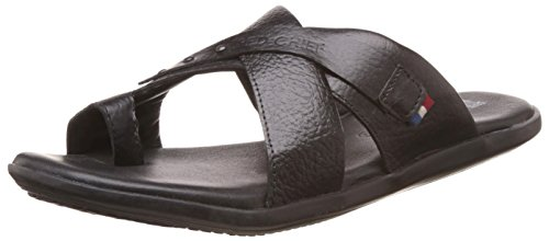 Redchief Men's Black Leather Slippers - 8 UK/India (42 EU)(RC612 001)  available at amazon for Rs.998