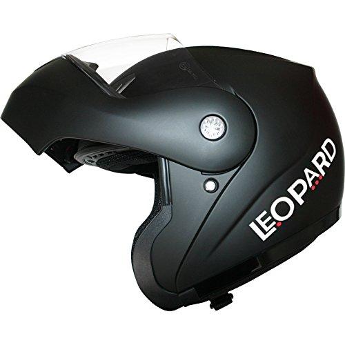 Leopard LEO-717 Klapphelm Integralhelm Helm Motorradhelm Straße legal #01 Mattschwarz S (55-56cm) - 3