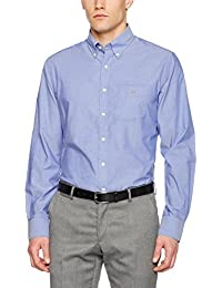 Gant the Plain Broadcloth Reg Bd, Chemise Casual Homme, Weiß