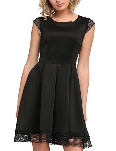APART Fashion Damen Kleid 24684 Schwarz (Schwarz)