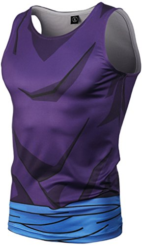 Pizoff Herren Gym Sport Fitness Stringer Trainingsshirt Muskelshirt Tank  Top mit Karikatur Druckmuster Y1783-03