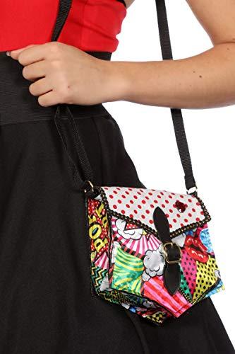 Wilbers Tasche Pop-Art mit Schnalle Keine Größe