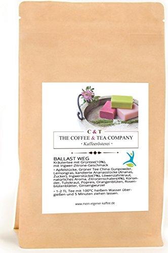 Kräutertee aromatisiert Ballast Weg Natürlich 900 g mit Ingwer-Zitrone-Geschmack Nachfüllpack | Loser Tee im Kraftpapierbeutel (Meine Einzige Tasse Kaffee)