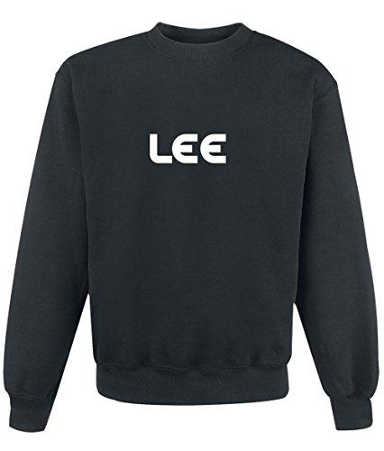 Felpa Lee - Print Your Name Black