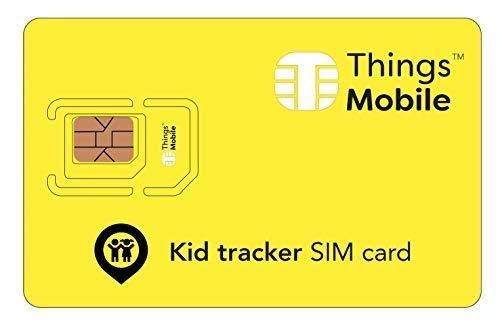 SIM-Karte für GPS TRACKER für KINDER - Things Mobile - mit weltweiter Netzabdeckung und Mehrfachanbieternetz GSM/2G/3G/4G. Ohne Fixkosten und ohne Verfallsdatum. 10 € Guthaben inklusive