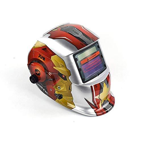 Casco De Soldadura De Oscurecimiento, Máscara De Casco De Soldadura De Oscurecimiento Automático Protección UV Protección IR-Un