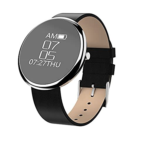 Docooler Smart Bracelet Smartwatch BT4.0 Sport Wristband Heart-rate Calls Notification Activity Tracking Sleep Monitor for iPhone Samsung S8+ iOS8.0