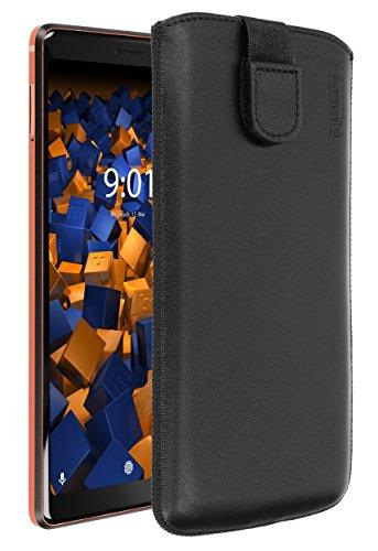 mumbi ECHT Ledertasche für Nokia 7 Plus Tasche Leder Etui (Lasche mit Rückzugfunktion Ausziehhilfe)