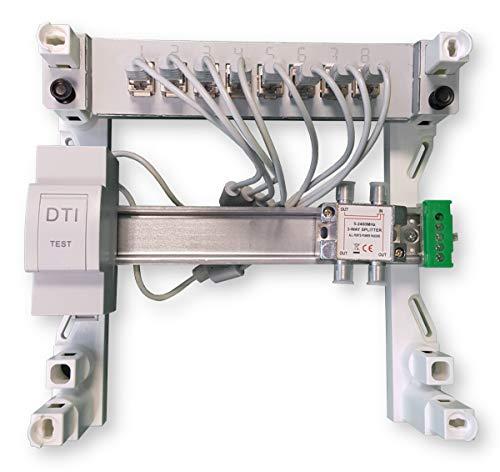 Dti 2 TV RJ45 XHsystem Coffret de communication Modulaire 250 Grade 3TV coax 8 RJ45