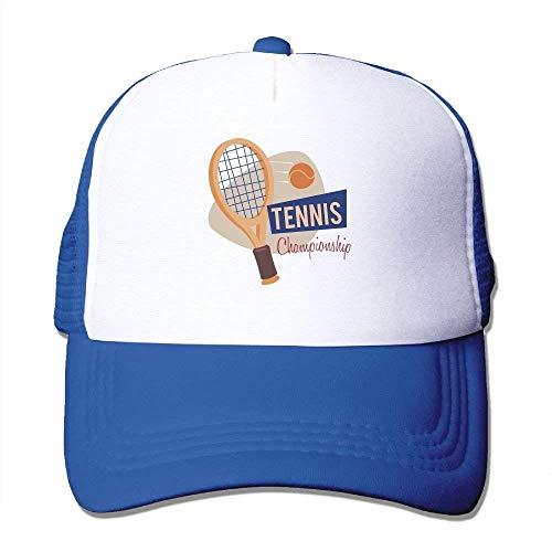 (Wdskbg Tennis Racket Adjustable Trucker Sun Hats Mesh Sports Baseball Caps Multicolor17)