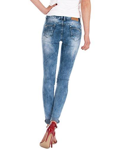 Fraternel pantalon jeans femme skinny taille basse Bleu