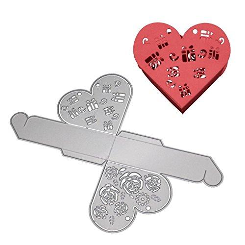 squarex Metall Schneiden Stirbt Schablonen Cute DIY Scrapbooking Album Papier Card Craft 2018, Silberfarben, Love Box