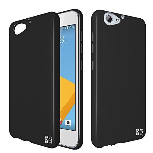 HTC one A9s Hülle, KingShark TPU Schutzhülle Ultradünn Weich Flexibel Silikonhülle für HTC One A9s (schwarz)