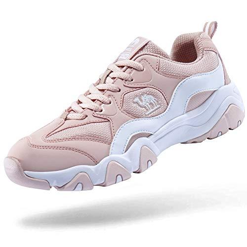 CAMEL CROWN Damen Laufschuhe Turnschuhe Trainer Komfortable Leichte Atmungsaktive Sportschuhe Trainingsschuhe,  Hellrosa(damen),  38 EU (Herstellergröße: 240) -