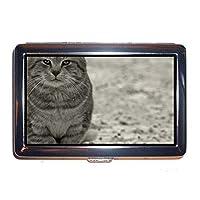 Yanteng Stainless steel Cigarette Case,Cat Business Card Holder Case 0038