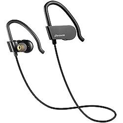 Auriculares Bluetooth, Parasom A8 In-ear Auriculares Bluetooth Inalámbrico Running Deporte, Bluetooth 4.1, estéreo y resistende al sudor para correr, trotar compatiable con iPhone, iPad, iPod, Samsung, Nokia, HTC, Xiaomi, Tabletas, MP3 etc. (Negro)
