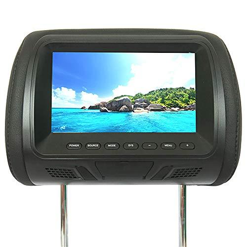 Universal 7-Zoll-Display Kopfstütze,DVD Player Auto Tragbar mit Monitore,Kopfstützen Spieler Display LED Bildschirm2 Halterung (Black)