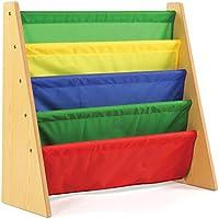Preisvergleich für Tot tutoren wo697Friends Collection Kinder Buch Rack Aufbewahrung Bücherregal, weiß/pink & violett, Holz, Natural/Primary, (L x W x H):28.00 x 11.00 x 28.00 Inches