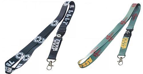 ndle-2Artikel: Mandalorian Boba Fett und Imperial Logo Lanyard Schlüsselanhänger Set ()