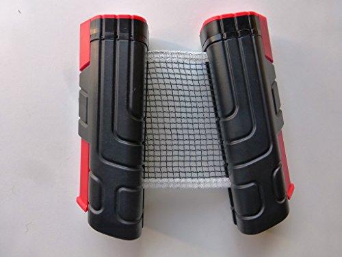 Ausziehbares Tischtennisnetz Ersatznetz Tennisnetz mit Aufroll-Automatik Ideal für unterwegs