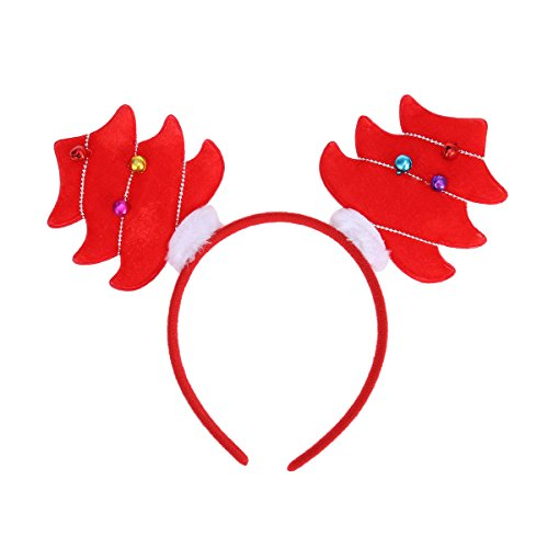 Tinksky Weihnachtsbaum-Stirnband, Haarband mit Glocke Haarband Kopf Boppers Haarschließe Kopfschmuck für Kinder Weihnachts-Party liefert (Dress Weihnachtsbaum Kostüme Fancy)