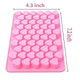 #10: Okayji Silicone Bakeware Mould for Chocolate and Ice Cube 55 Cavity Chocolate Mold BakeWare Small Heart