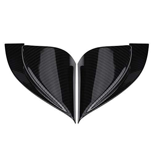 KIMISS 2Pcs Cubiertas Lateral Delantera de Salida de ventilaci/ón de Aire del Coche para 17-20 Fibra de Carbono