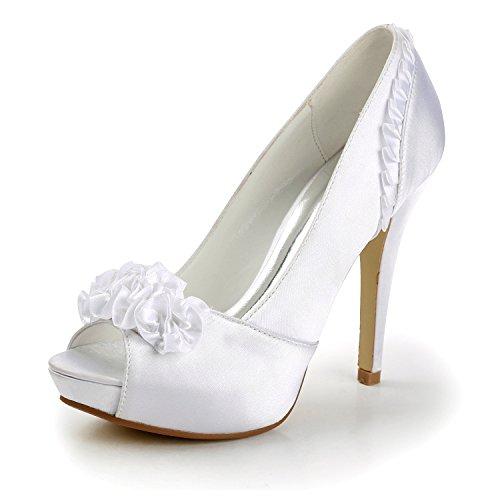Miyoopark , Semelle compensée femme Ivory-12.5cm Heel