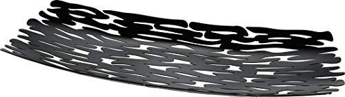 Alessi Tischdekoration, schwarz, Edelstahl, 7 x 53 x 10.5 cm