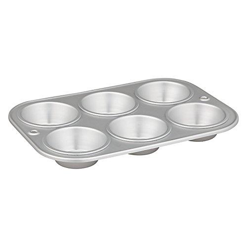 Delia Online-Teglia-Scatole anodizzato satinato-11scatole diverse, alluminio, Muffin Tin ( 6 cups)