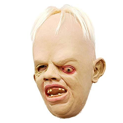 Beautyrain Halloween Horror Silikon DIY Maskerade Requisiten schielen Zombie Maske spielt Gesichtsmasken