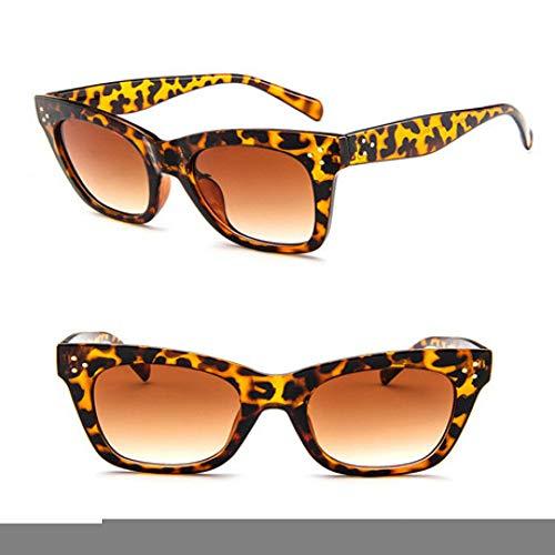 GJYANJING Sonnenbrille Flat Top Frame Sonnenbrille Cat Eye Sonnenbrille Frauen Luxus Klassische Männer Mode Brille Sonnenbrille Augen Uv400
