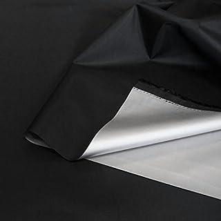 TOLKO Sonnenschutz Verdunklungsfolie/Verdunklungsstoff Meterware | hohe Lichtdichte mit Thermo-Beschichtung, als Fensterfolie, Verdunklungsvorhänge/Gardine oder Verdunklungsrollo (Schwarz)