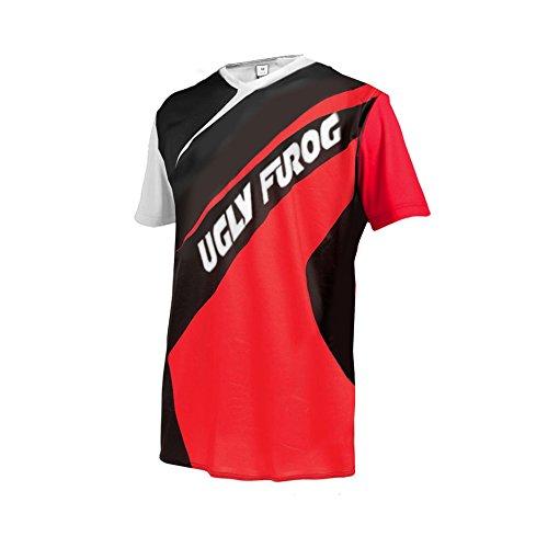Uglyfrog #03 Designs Blocks Motocross/Downhill Jersey Kurze Ärmel Trikot MX Enduro Offroad Gelände Quad Cross Erwachsene
