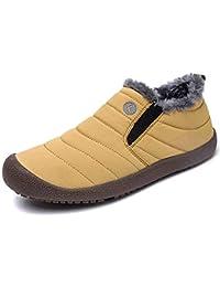Botas de Nieve Hombre Mujer Invierno Zapatos Forro de Piel Calientes Botines Antideslizante Al Aire Libre Cortas Tobillo Boots